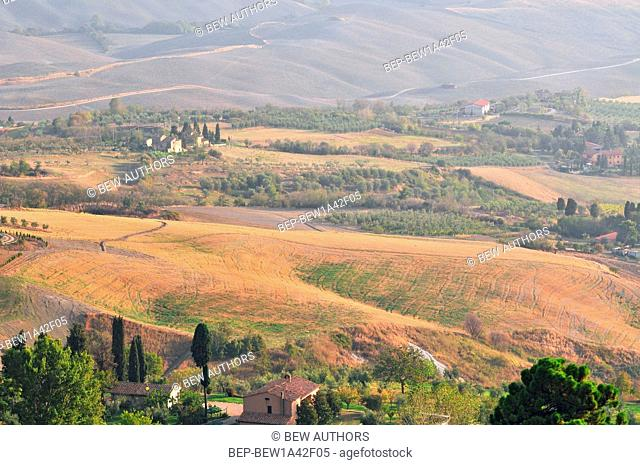 Tuscany, Val d' Orcia (Orcia Valley), landscape classified as World Heritage by UNESCO