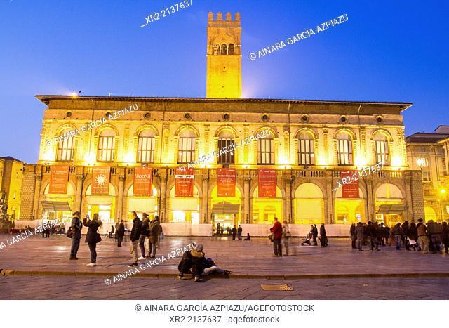 Palazzo del Podestà, Piazza Maggiore, Bologna, Emilia Romagna, Italy
