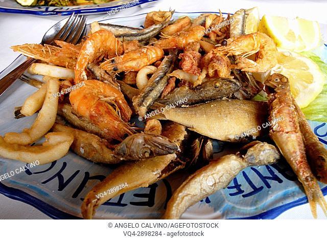 Fried Fish, Frittura Mista di Pesce, Italian