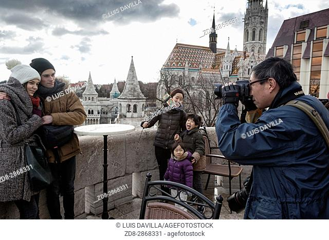 Fisherman's bastion is a terrace in neo-Gothic and neo-Romanesque style on the Castle Hill in Budapest. It was built in the 19th century mainly for decorative...