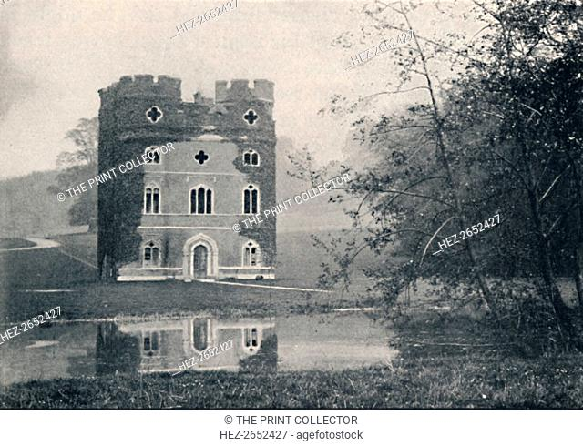 'Remains of Wolsey's Palace, Esher', 1903. Wayneflete Tower, once part of Esher Palace is an historical gatehouse located in Esher, near London