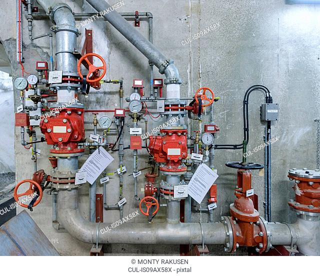 Fire control system in hydroelectric power station