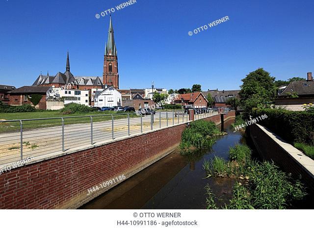 Town view of Rhede, Münsterland, North Rhine-Westphalia