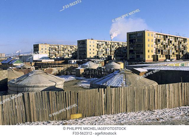 Mongolia. Ulan Bator suburb