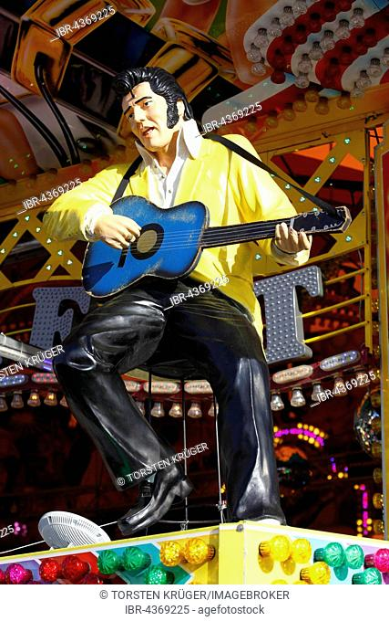 Elvis Presley, figure on a fairground ride, fair on the Bremer Osterwiese, Bürgerweide, Bremen, Germany