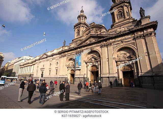 Metropolitan Cathedral, Plaza de Armas, Santiago, Chile