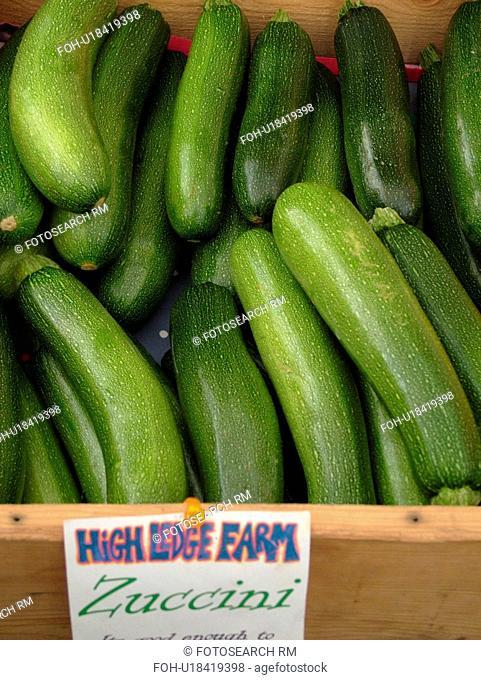 Montpelier, VT, Vermont, Farmer's Market, Zucchini Squash