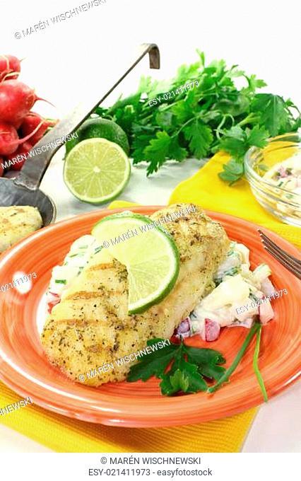 Seehecht mit Kartoffelsalat