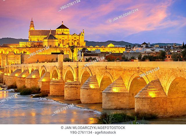 Roman Bridge and Cordoba Mosque, Andalucia, Spain