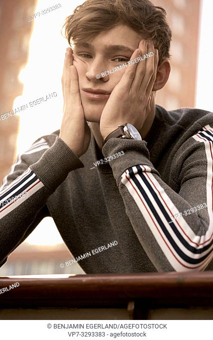 young model man, in Hamburg, Germany
