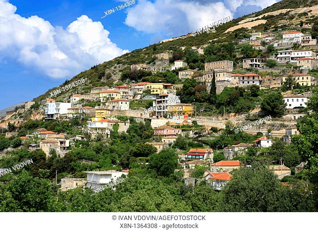 Vuno village, district Vlora Vlore, Albania