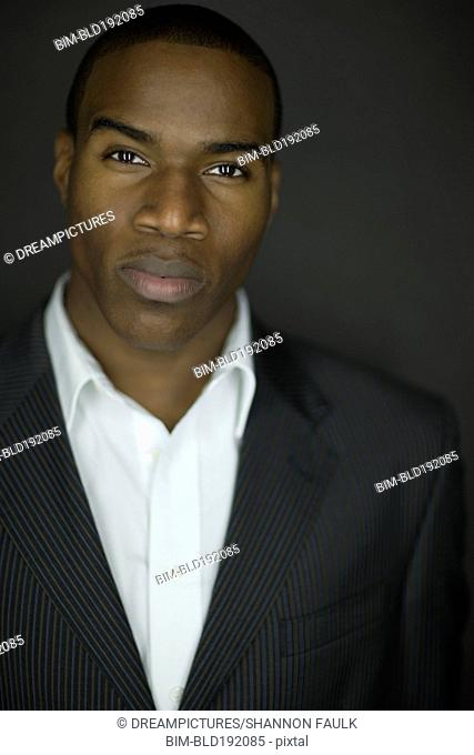 Close up of African businessman