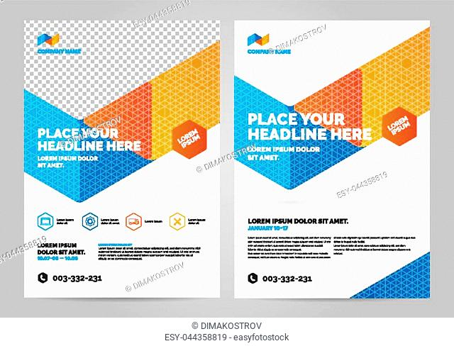 Geometry colorful Brochure Layout template, cover design background, annual reports. Can be adapt to Annual Report, Poster, Flyer, Banner