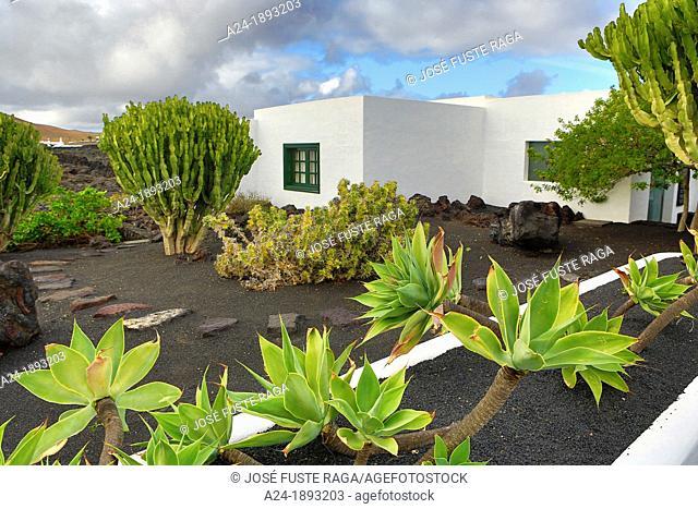 Spain , Canary Islands , Lanzarote Island, Traditional Lanzarote architecture