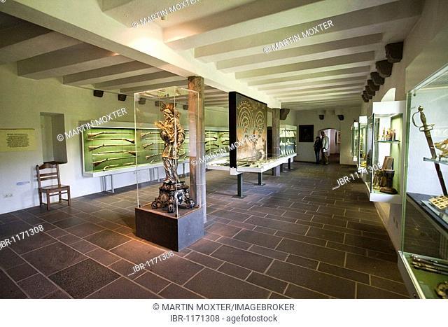 Armory of Burg Eltz Castle, Wierschern, Rhineland-Palatinate, Germany, Europe