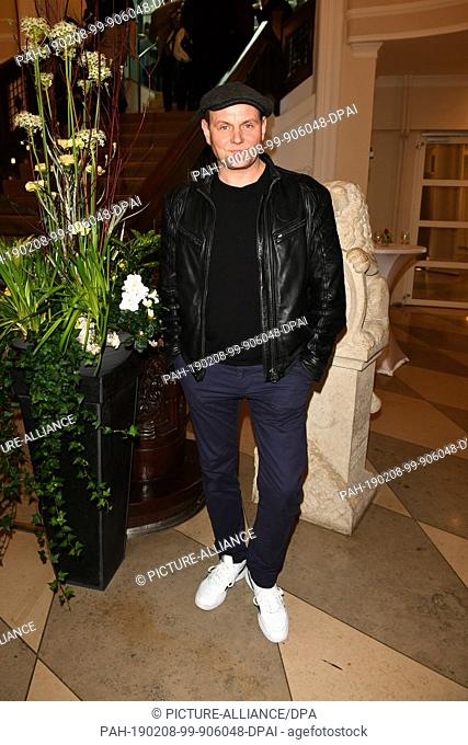 08 February 2019, Berlin: 69th Berlinale: Devid Striesow, actor, is at the reception of the Bayerische Filmförderung at the Representation of the Free State of...