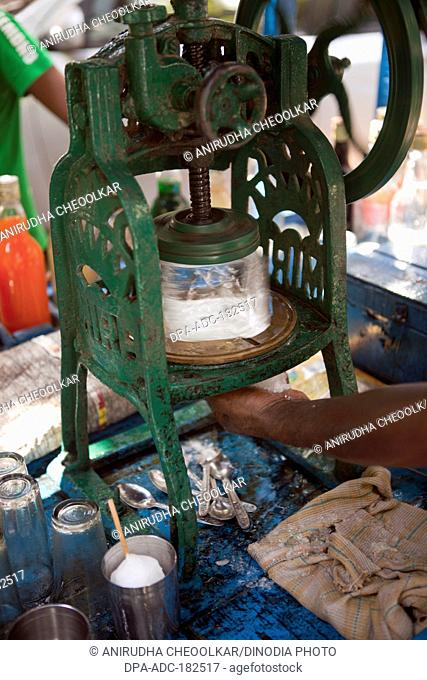 Ice crushing machine konkan chaul alibaugh Raigadh Maharashtra India Asia