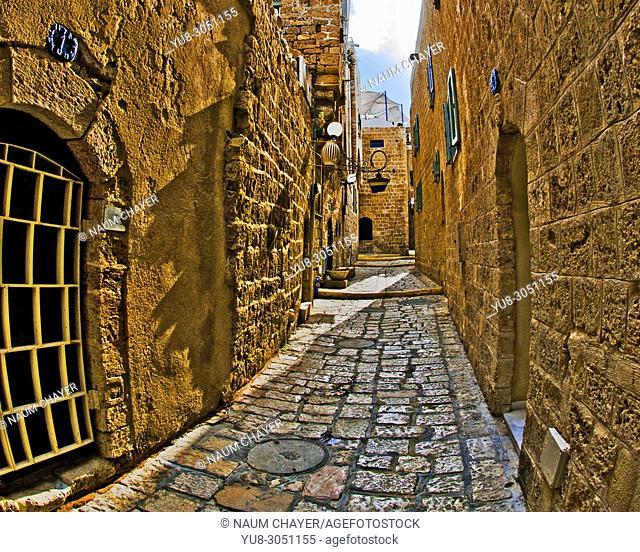 Old street, Jaffa; Tel Aviv-Yafo, Israel