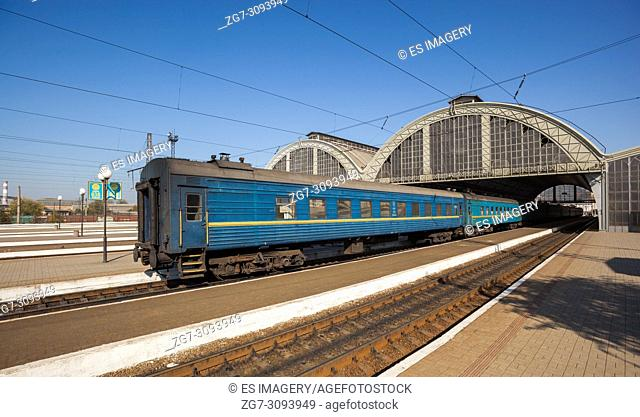 Sleeper class train, Lviv-Holovnyi Central Railway Station, Ukraine
