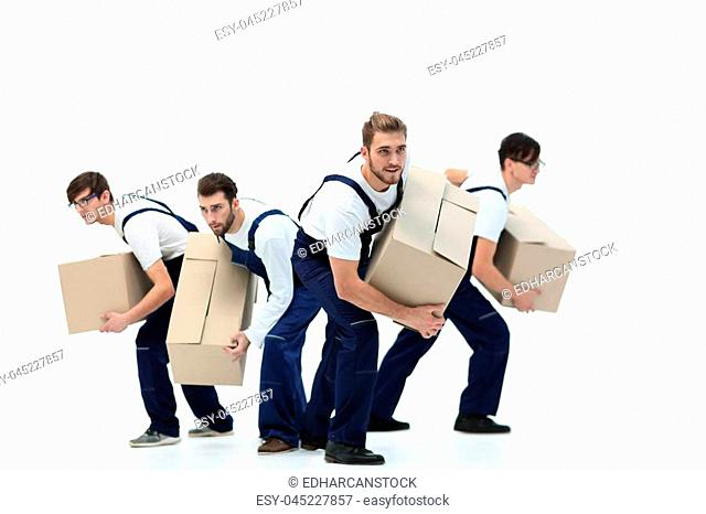 Movers in a hurry to do their job