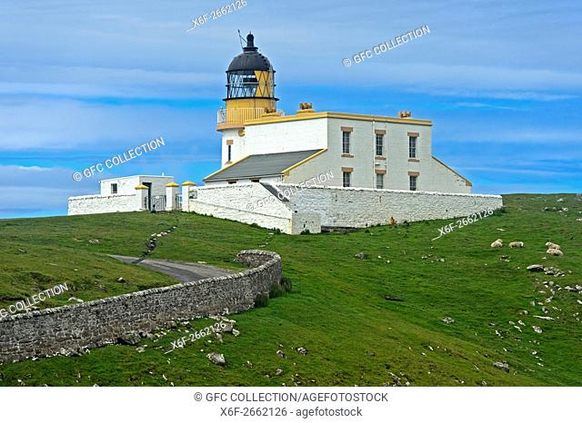 Stoer Head lighthouse, Lochinver, Sutherland, Scotland, United Kingdom
