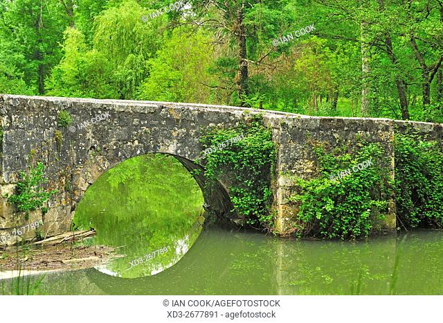 Bretou Medieval Bridge, Eymet, Dordogne Department, Aquitaine, France