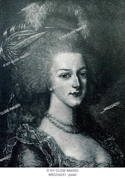Marie Antoinette, wife of King Louis XVI of France, was the 15th child of the Empress Maria Theresa of Austria. She married Louis on May 16, 1770