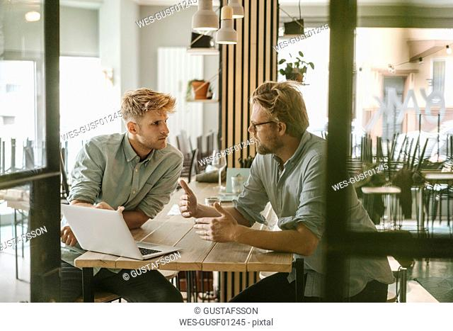 Business partners having a meeting in their new start-up company