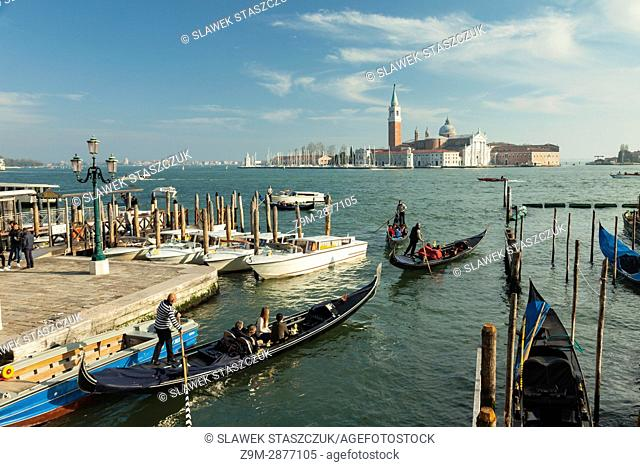 Gondolas in San Marco district of Venice