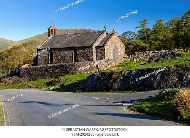St James' Church in Buttermere, Lake District National Park, Cumbria, England, UK, Europe