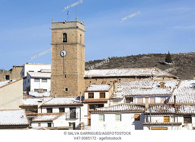 Urban landscape of Formiche Alto, Aragón, Spain