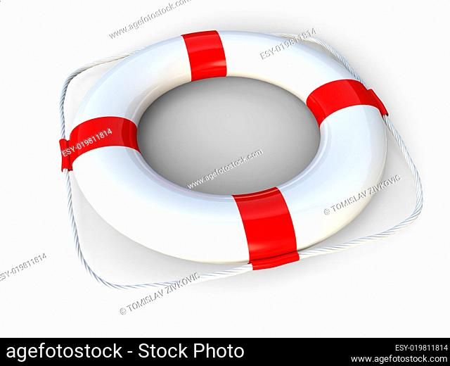 White life belt