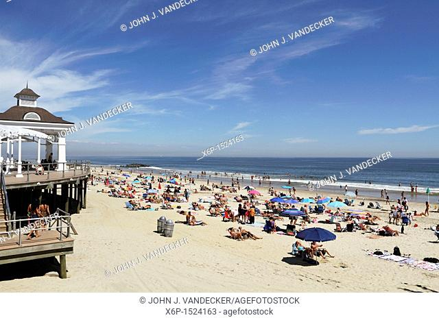 A view of the beach at Long Branch, New Jersey, Monmouth County, New Jersey, USA