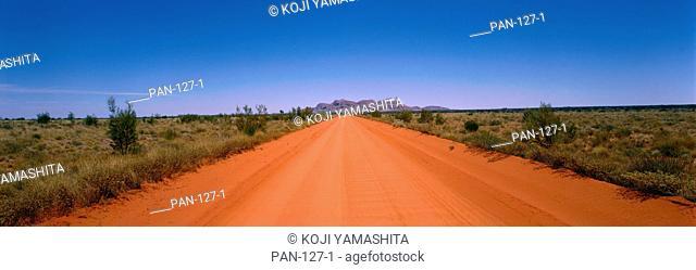 Desert Road and Mount Olga, Australia