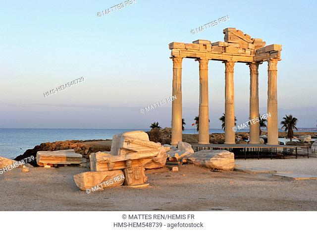 Turkey, Mediterranean Region, Turquoise Coast, Pamphylia, Side, Apollo Temple