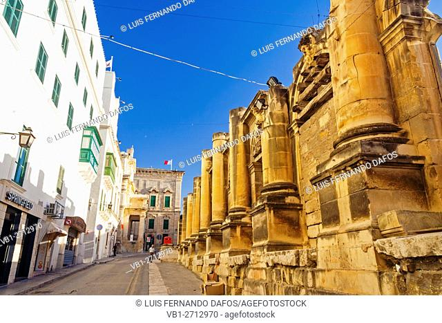 Ruins of the Royal Opera House at Pjazza Teatru Rjal. Valletta, Malta