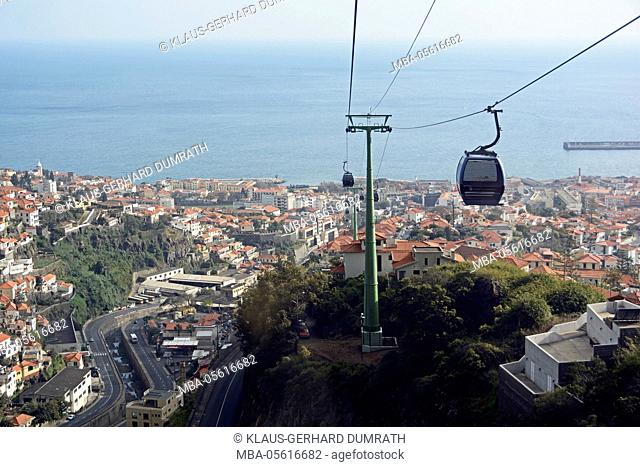 Funchal, cable car with local view