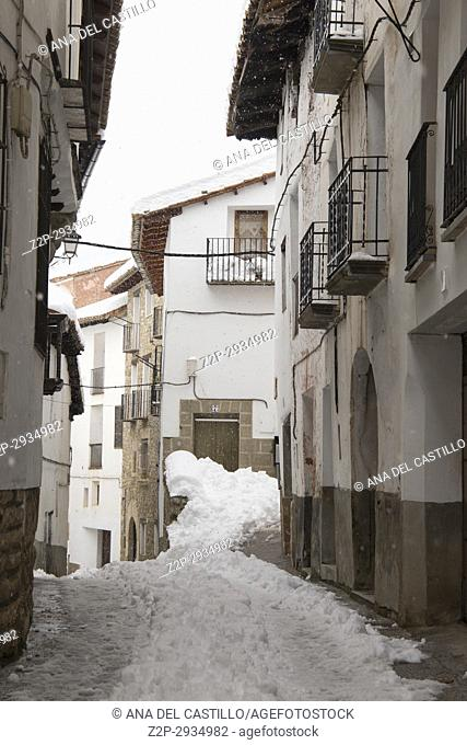 Gudar sierra Teruel Aragon Linares de Mora is one of the most beautiful villages in Spain