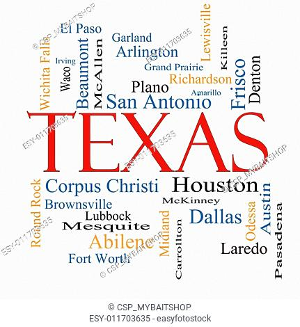Texas State Word Cloud Concept