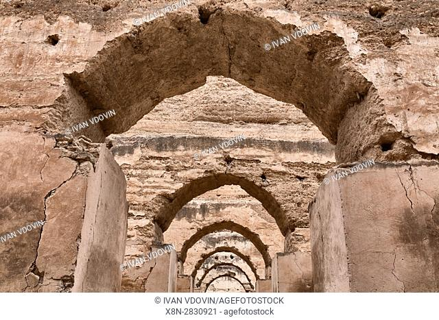 Sultan's stables (18th century), Meknes, Morocco