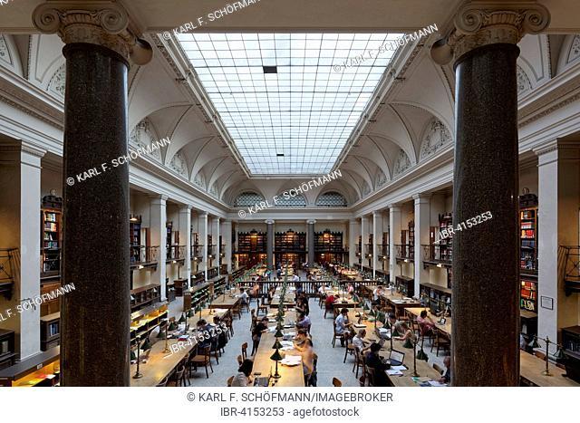 Great Reading Room of the University Library, University of Vienna, Ringstraße, Vienna, Austria