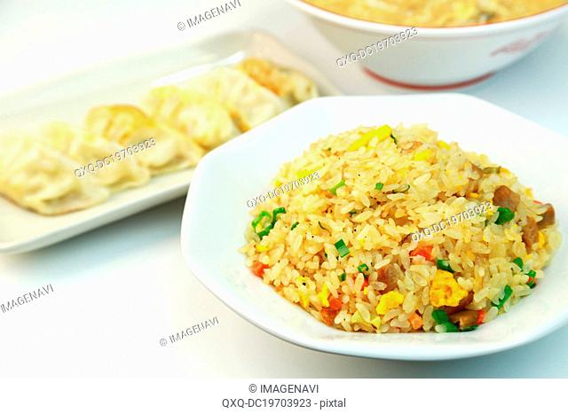Fried rice with dumpling