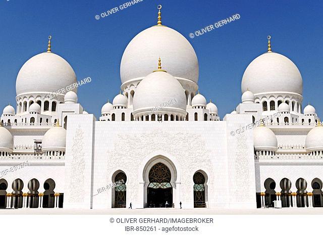 Sheikh Zayed bin Sultan Al Nahjan Mosque, Grand Mosque, third largest mosque in the world, Abu Dhabi, United Arab Emirates, Asia