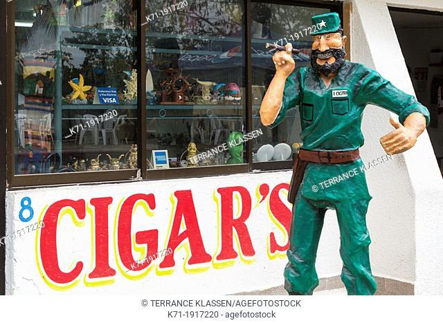 A Cuban Cigar shop in Cozumel, Mexico