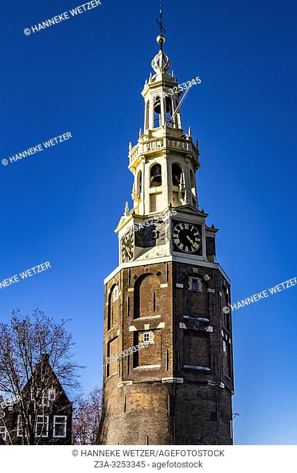 Montelban Tower in Amsterdam-East, the Netherlands, Europe