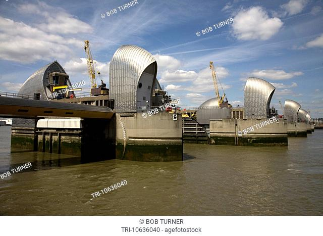 thames barrier river thames charlton london england