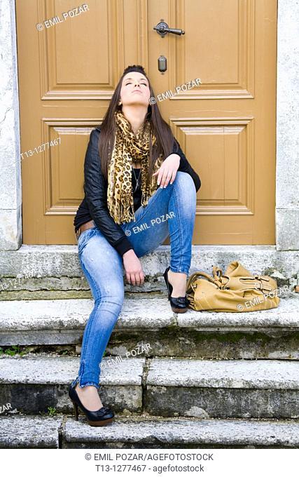 Sleepy young woman