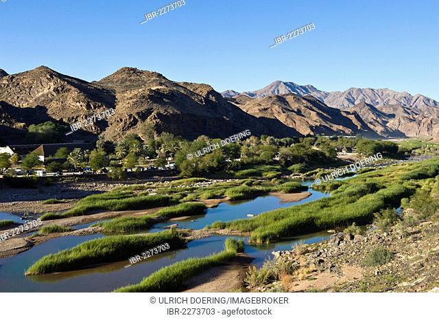Ai-Ais hot springs, campsite, Ai-Ais - Richtersveld Transfrontier National Park, Namibia, Africa