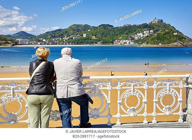 La Concha Bay, Donostia, San Sebastian, Gipuzkoa, Basque Country, Spain
