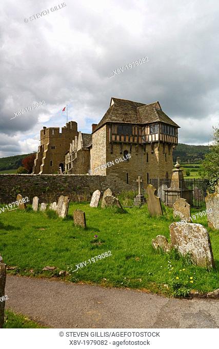 Stokesay Castle, Shropshire, England, UK